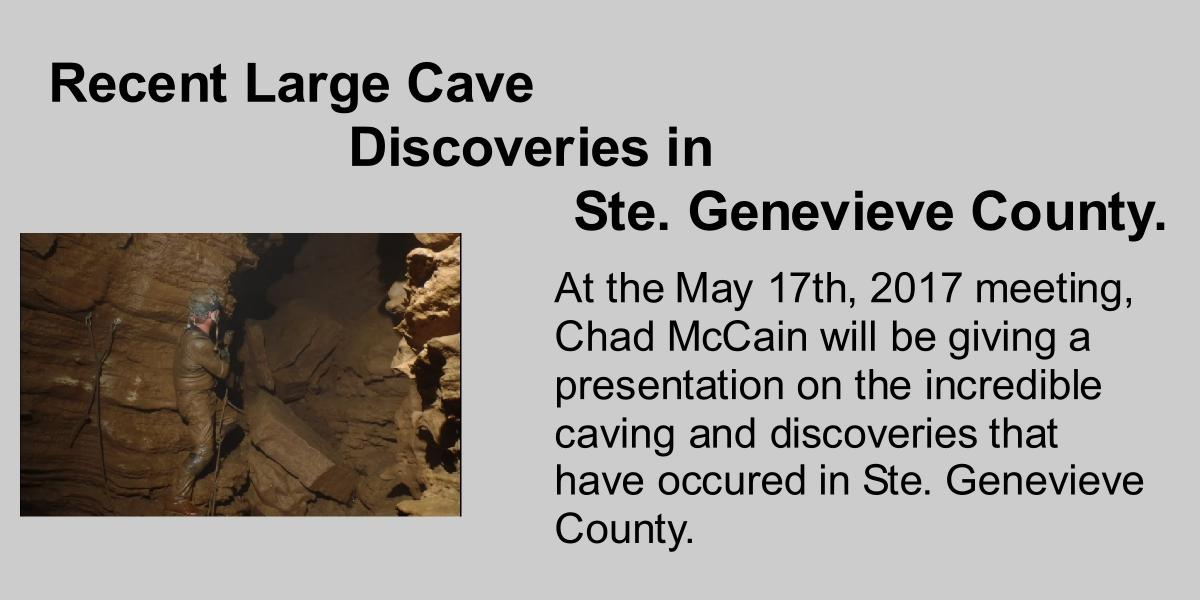 Chad McCain Caver Caving Ste. Genevieve